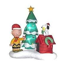 peanuts airblown inflatables peanuts 6 christmas with brown snoopy