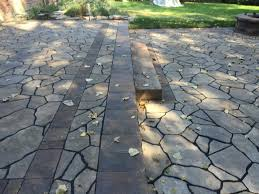 Belgard Fire Pit by Mega Libre Custom Two Tier Patio With Custom Built Fire Pit