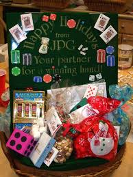 themed gift basket employee gift basket casino themed gift ideas