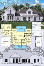 farmhouse plan plan 51773hz 4 bed modern farmhouse with bonus garage