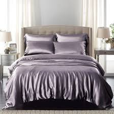 Purple Grey Duvet Cover Charcoal Grey Silk Bed Linen From Pure Mulberry Silk