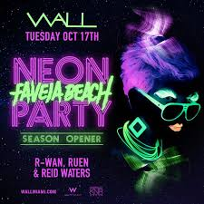 neon party ra favela neon party at wall lounge miami 2017
