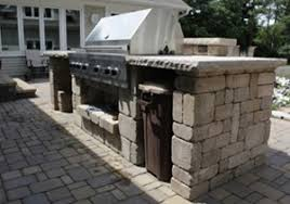 outdoor kitchen landscaping and landscape design for patio