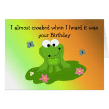 cute green frog birthday cards greeting u0026 photo cards zazzle