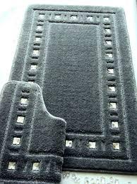 Grey Bathroom Rug Gray Bathroom Rug Sets 2 Trellis Percent Cotton Bath Rug Set