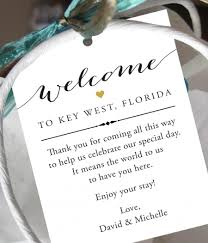 wedding gift bags for hotel set of 10 gift tags for wedding hotel welcome bag destination