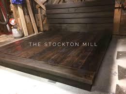 hardwood platform bed king size wood bed ruby collection wood