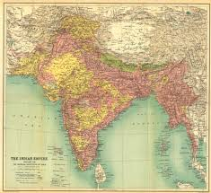 Map Nepal India by Modern Index