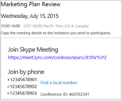 skype for business web scheduler office support