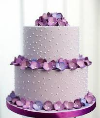 2 tier wedding cake structure with purple flowers online