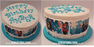 edible print frozen edible print cake sensational suga