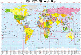 World Map With Capitals by Cq Zones Ww Locators Dx Countries World Map With Itu