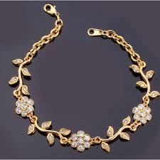 leaf charm bracelet images Charm bracelets platinum 18k real gold plated chain rhinestone png