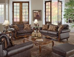 Living Rooms With Dark Brown Leather Furniture Furniture Exquisite Living Room Couch Sets Ideas Dark Brown