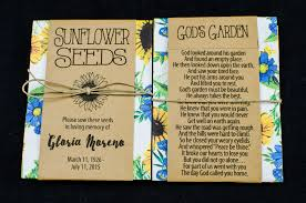 sunflower seed packets sunflower memorial seed packets gloria s garden