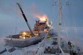 arctic ship breaks free of ice for historic expedition
