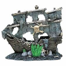 aquabrite pirate ship aquarium ornament on sale free uk delivery