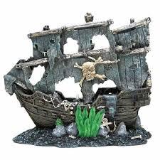 aquabrite pirate ship aquarium ornament on sale free uk delivery
