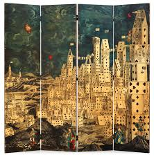 Four Panel Room Divider A Piero Fornasetti Four Panel Room Divider Folding Screen U0027city Of