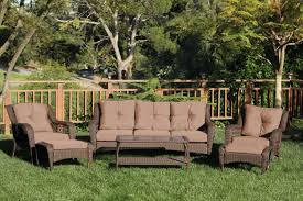 Patio Chairs With Cushions Cosco Outdoor 7 Piece Lakewood Ranch Steel Woven Wicker Patio