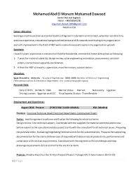 Ksa Resume Examples by Electrical Engineer Daoud 2017