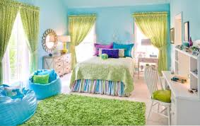 Ikea Kids Furniture by Blue Wall Themes With Green Curtains Plus Blue Sheet On Striped