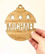 buy custom personalised ornaments tree