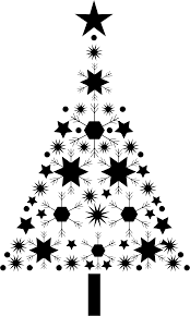 clipart abstract snowflake tree by arnold