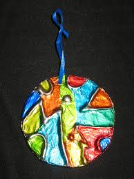 tin foil stained glass ornaments 2 ideas pinterest