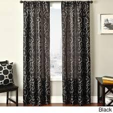3 Inch Rod Pocket Sheer Curtains Softline Bay Scroll Embroidered Rod Pocket Sheer Curtain Panel