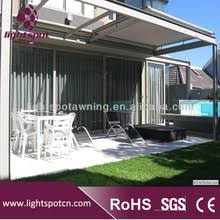 Glass Pergola Roof by Aluminum Glass Roof Awnings Canopy For Folding Pergola System