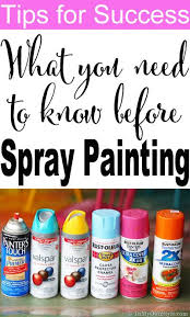 How To Spray Metallic Paint - best 25 spray painting ideas on pinterest spray painted