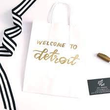 welcome to our wedding bags welcome to our wedding wedding weekend bag detroit wedding