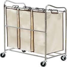 3 Section Laundry Hamper by Tips U0026 Ideas Laundry Bin Sorter Clothes Sorter Triple Laundry