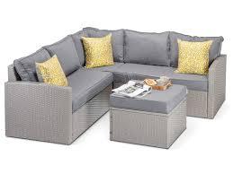 rattan corner sofa calabria grey rattan garden corner sofa