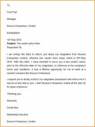 7 2 weeks notice template basic job appication letter