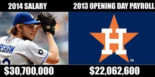 Funny Meme Pictures 2014 - mlb meme clayton kershaw contract in perspective sorry astros