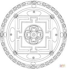 flower of life mandala coloring page free printable coloring pages