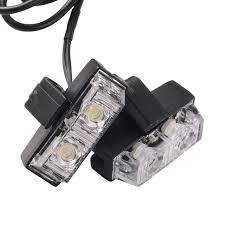 strobe lights for car headlights 1 kit white strobe lights 12v 16w car emergency light bars deck dash