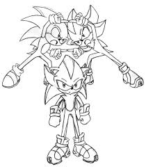 sonic and shadow coloring pages sonic shadow fusion by trakker on deviantart