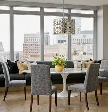 kitchen modern kitchen banquette seating with brown damask