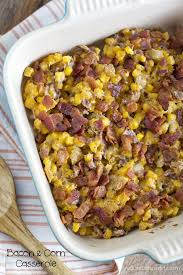bacon and corn casserole sidedish lilluna
