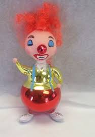 steinbach collectible ornament clown with flowers christmas