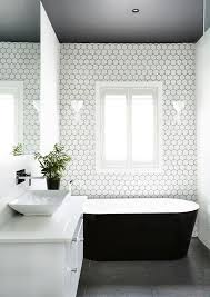 black white bathroom ideas bathroom large hexagon tile apinfectologia org