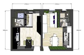 Apartments Clever Architecture Floor Plan Design Of Two 20 Square 20 Square Home Designs