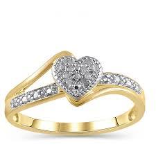 diamond accent 10kt yellow gold heart promise ring walmart com