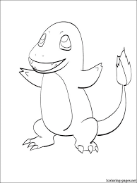 printable coloring pokemon charmander coloring pages