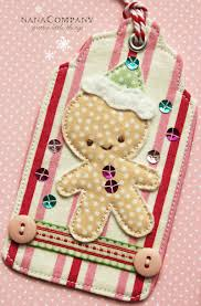 christmas tags use scrap fabric and other craft bits to create
