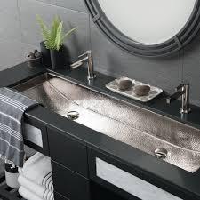 Bathroom Sink Modern Rectangular Trough Bathroom Sinks Native Trails