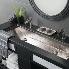 trough 48 double basin rectangular bathroom sink native trails
